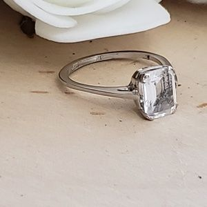 Jewelry - 925 Sterling Silver Grade AAA CZ Engagement Ring